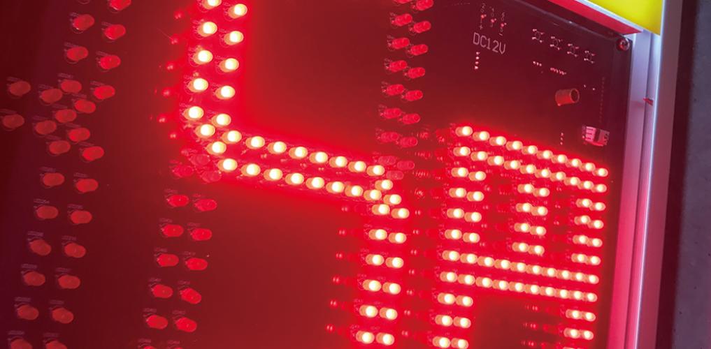 LED輝度自動調節機能の紹介画像です。